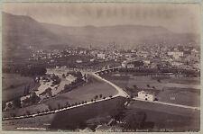 Panorama de Millau Midi-Pyrénées France Vintage albumine vers 1885