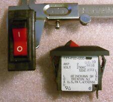 Thermal Circuit Breaker 5 pcs 15A 250VAC 32VDC 1-Pole W28-XQ1B-15 Tyco-P/&B