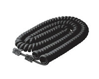 5 Pack Lot - 15ft Telephone Handset Receiver Cord Phone Coil Cable 4p4c - Black
