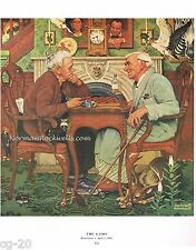 """Norman Rockwell vintage APRIL FOOL's DAY print: THE GAME"""" 11""""x15"""" hidden objects"""