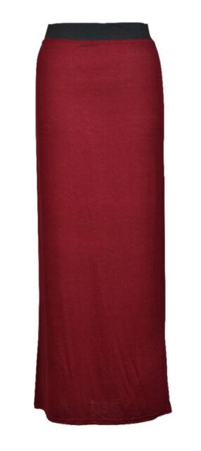 Womens Gypsy Long Jersey Maxi Dress Skirt Ladies a lot skirts