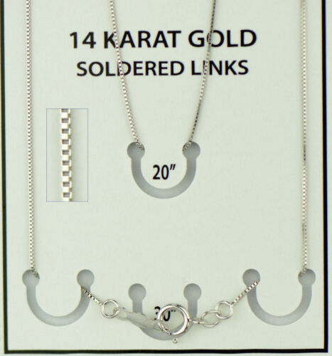 14k White Gold Soldered Gold Link Chain Necklace PCHW4