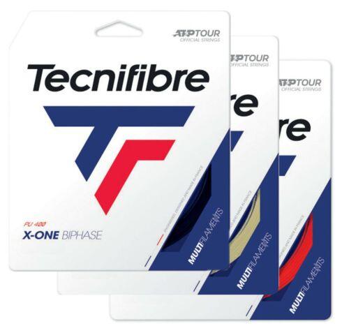 12m Set Natural Black Red Tecnifibre X-ONE BIPHASE Tennis Racket String