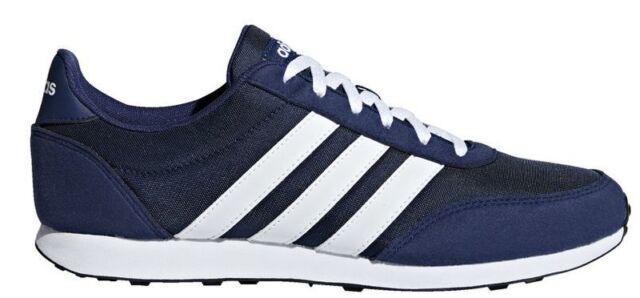 Adidas neo V RACER 2.0 mens RUNNING TRAINERS Dark Blue White B75795