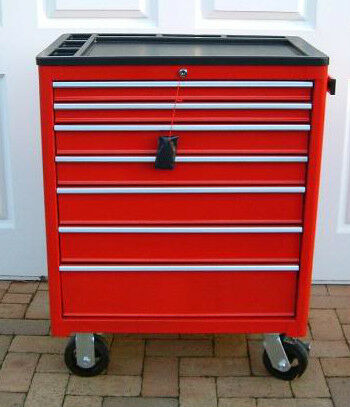 US PRO HEAVY DUTY RED STEEL TOOL BOX CHEST FINANCE AVAILABLE