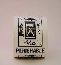 Perishable Labels 3 X 4 500 Per Roll Shipping Label