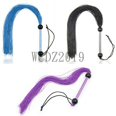 Silicone Whip Flogger Restraint role play game New Riding Crop Flirting black