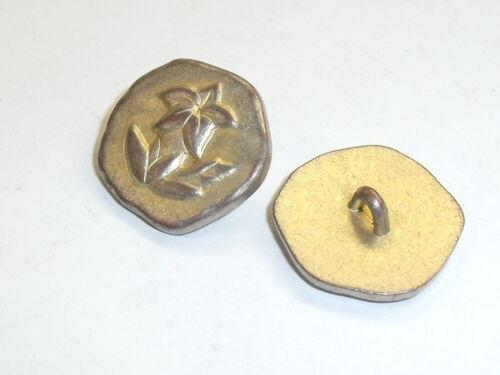 6 pieza de metal botones botones Trachten botón de 25 mm trébol recién inoxidable #542.2#