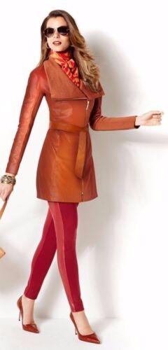 Dream Jacket Læder Cognac M Brown og Platinum Luxe Iman Forever Strik Trench xHw0qvSY