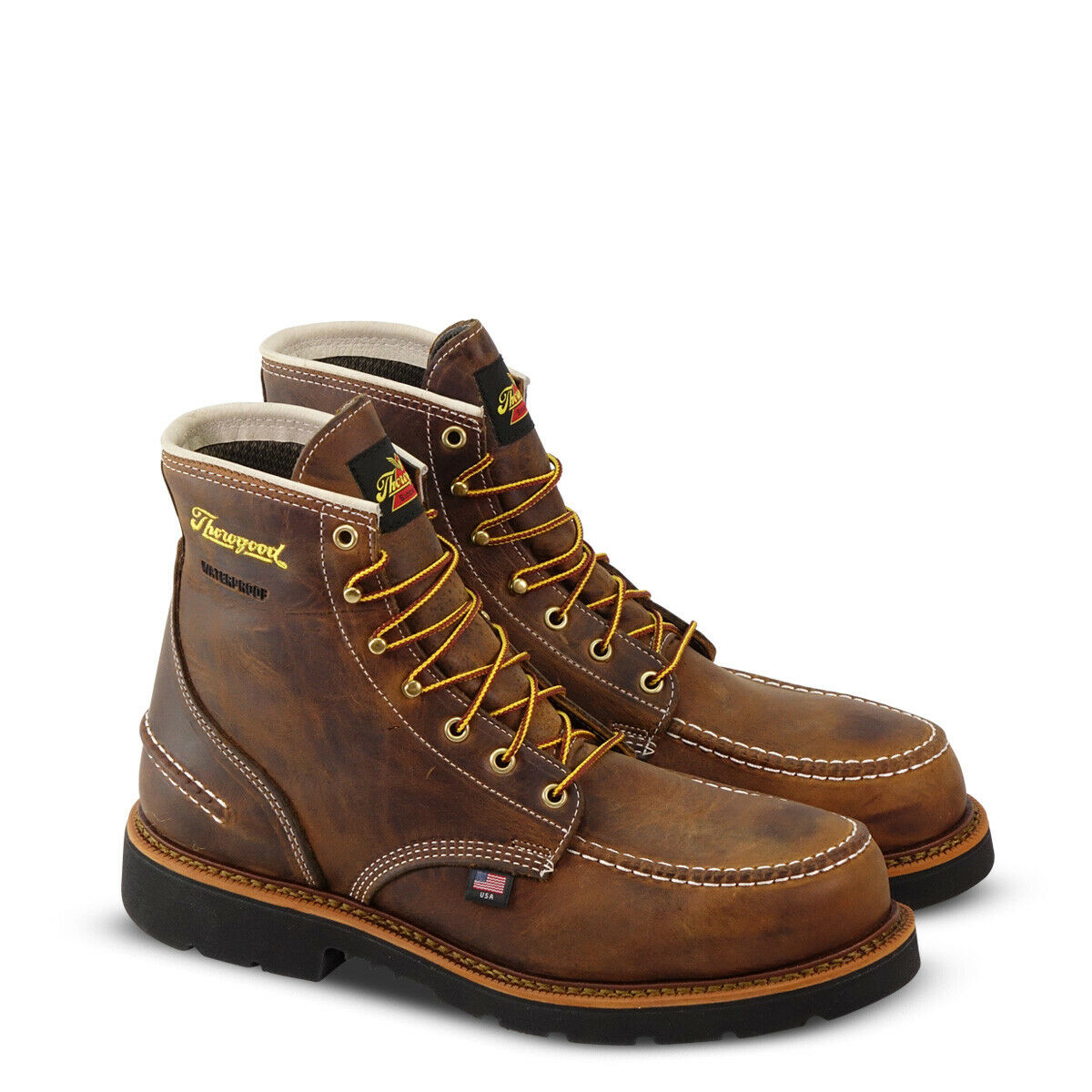 Thgoldgood Boots 804-3696 6  Waterproof Steel Toe Made In USA Safety 1957 Moc Toe