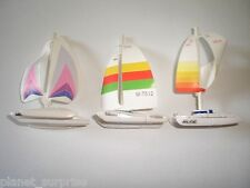 CATAMARANS 1996 MODEL BOATS & SHIPS SET - KINDER SURPRISE TOYS MINIATURES