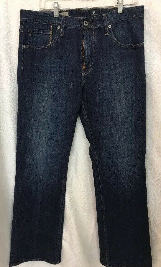 Ag Mens Jeans Dark Wash bluee The New Hero Relaxed Fit 34x31