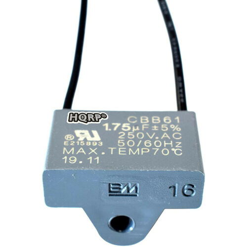 HQRP Capacitor CBB61 fits Harbor Breeze Ceiling Fan 1.75uf 2-Wire