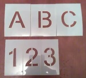 Arial Alphabet & Numbers -Stencils- Parking lot - Letters - Paint