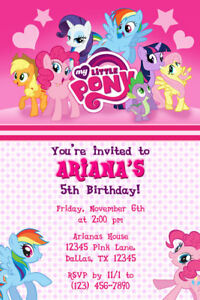 image relating to My Little Pony Printable Birthday Cards identified as Info over My Small Pony Invites - Birthday Get together - Transported or Printable