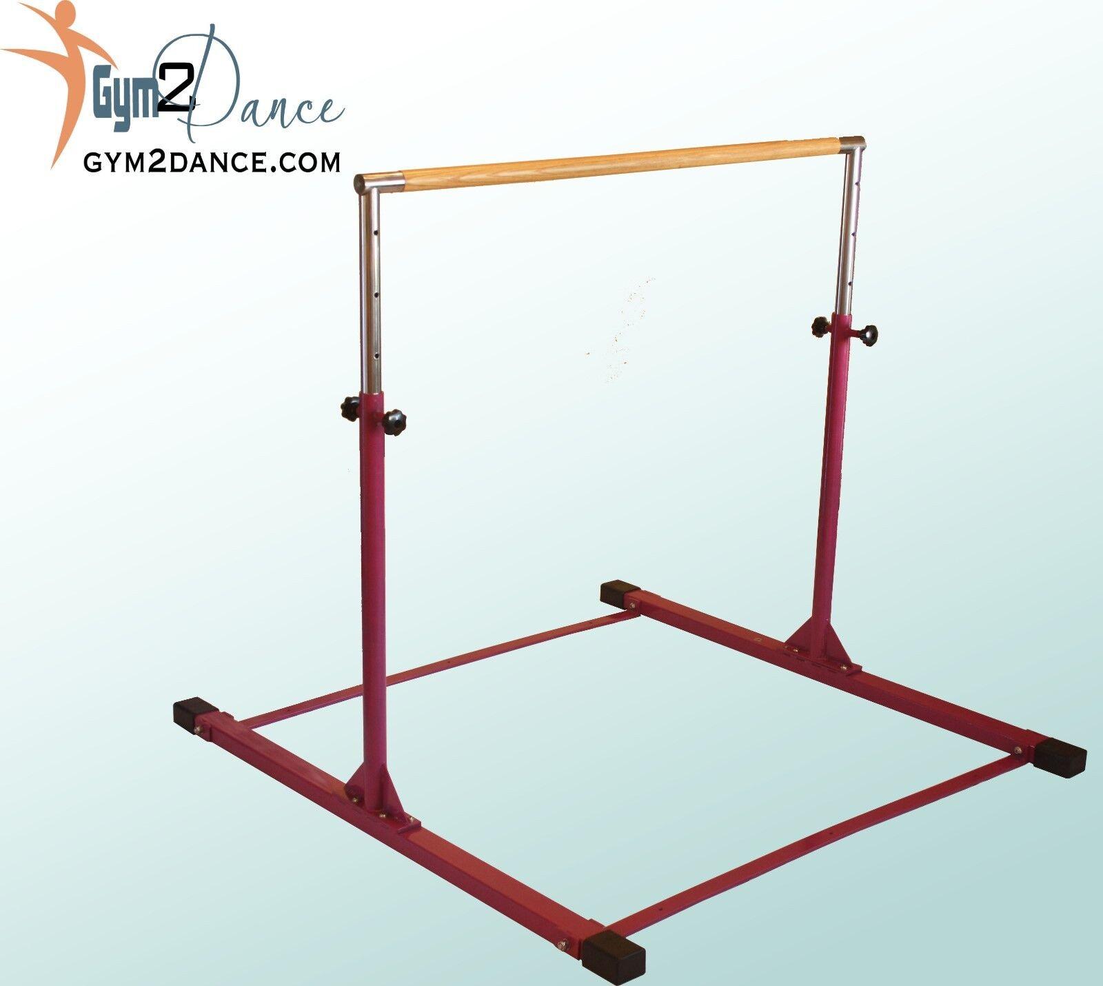 Gymnastics Bar Model DX, by Gym2Dance, Adjustable 3' - 5' solid wood, Free Ship