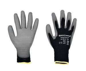 1-Pair-of-Honeywell-Perfect-Poly-Black-Protective-Work-Gloves-size-7-to-11