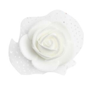 100-Pieces-Romantique-Mousse-Artificielle-Rose-Tete-Fleurs-De-Mariage