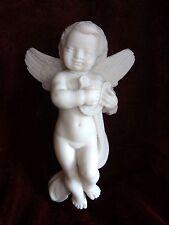 Engel mit Reige Weihnachten Statue Alabaster Griechenland 14,5 cm