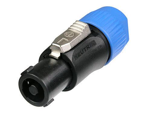 Neutrik 4 pole cable connector, chuck type strain relief NL4FC