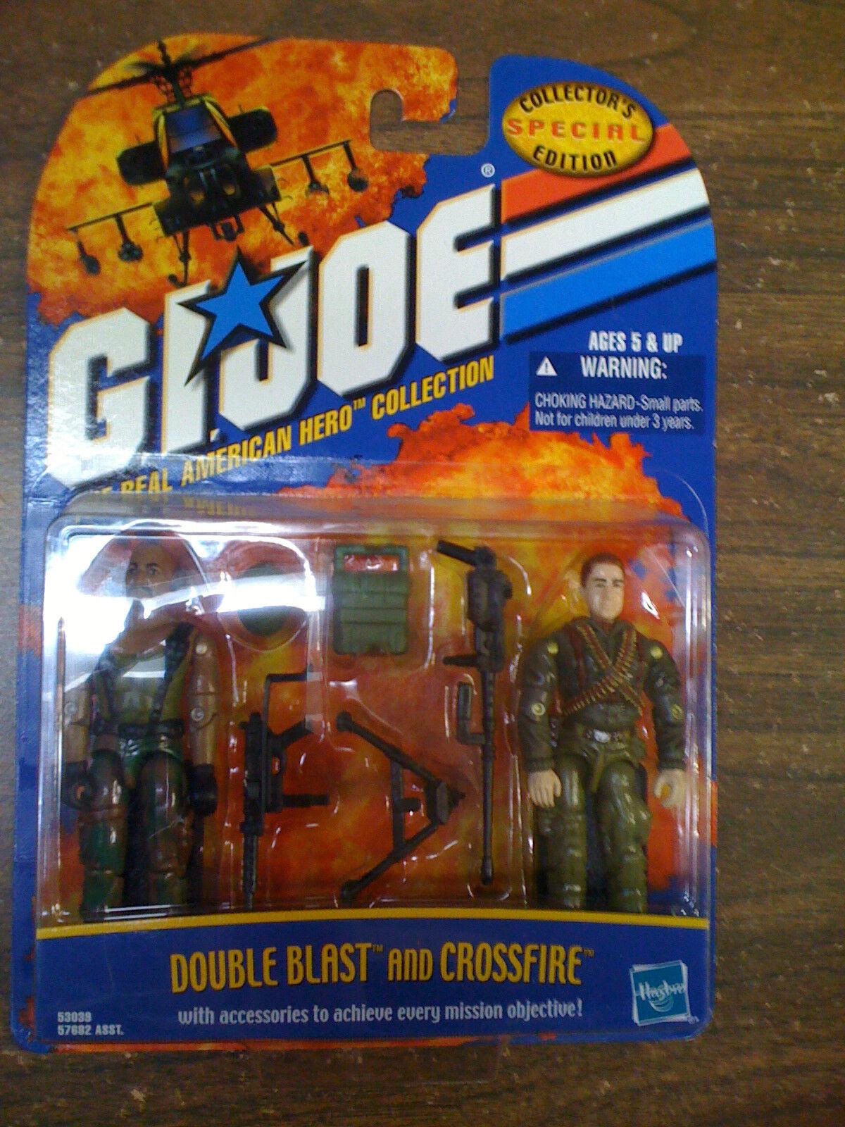 G.I. JOE ARAH Collectors Edition Double Blast & & & Crossfire NEW Free Ship US 8516eb