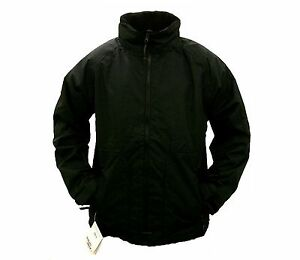 MENS REGATTA FLEECE LINED BLACK WATERPROOF JACKET M-XXXL RRP £56