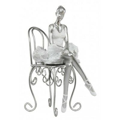 "New Silver / White Summer Of Dance ""Maria"" Figurine / Ornament 27cm Tall"