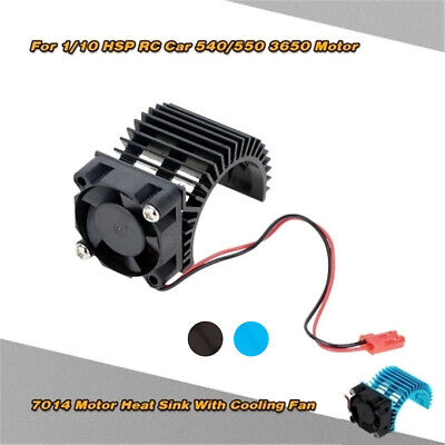 Motor Heat Sink and Cooling Fan Set for 1//10 HSP RC Car Truck Buggy Parts B