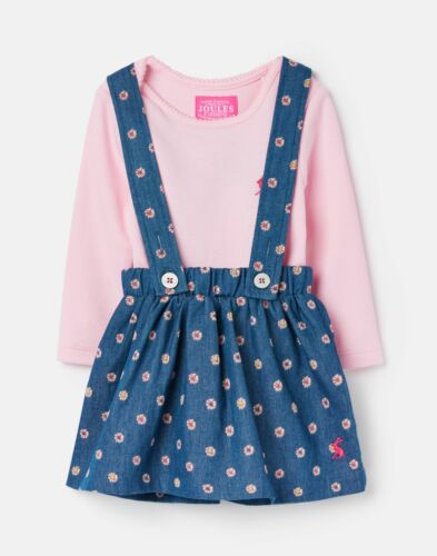 Chmspot Joules Baby Girls 206580 Long Sleeved Body Suit With Brace Skirt Set