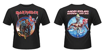 Official IRON MAIDEN European Tour 2013 T-shirt Black Sizes S - XXL The Trooper