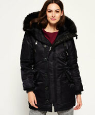 New Womens Superdry Sd-4 Parka Coat Black
