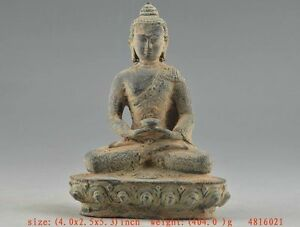 Auspicious-Chinese-Old-copper-Collectable-Handwork-Carving-Buddha-Statue