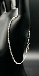 Solid-Sterling-Silver-Rope-Chain-Bracelet
