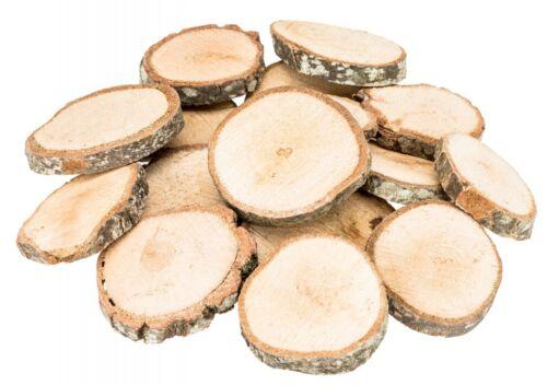 NaDeco® Holzscheiben natur 1kg Ø3-6cmBaumscheibenHolz Scheiben