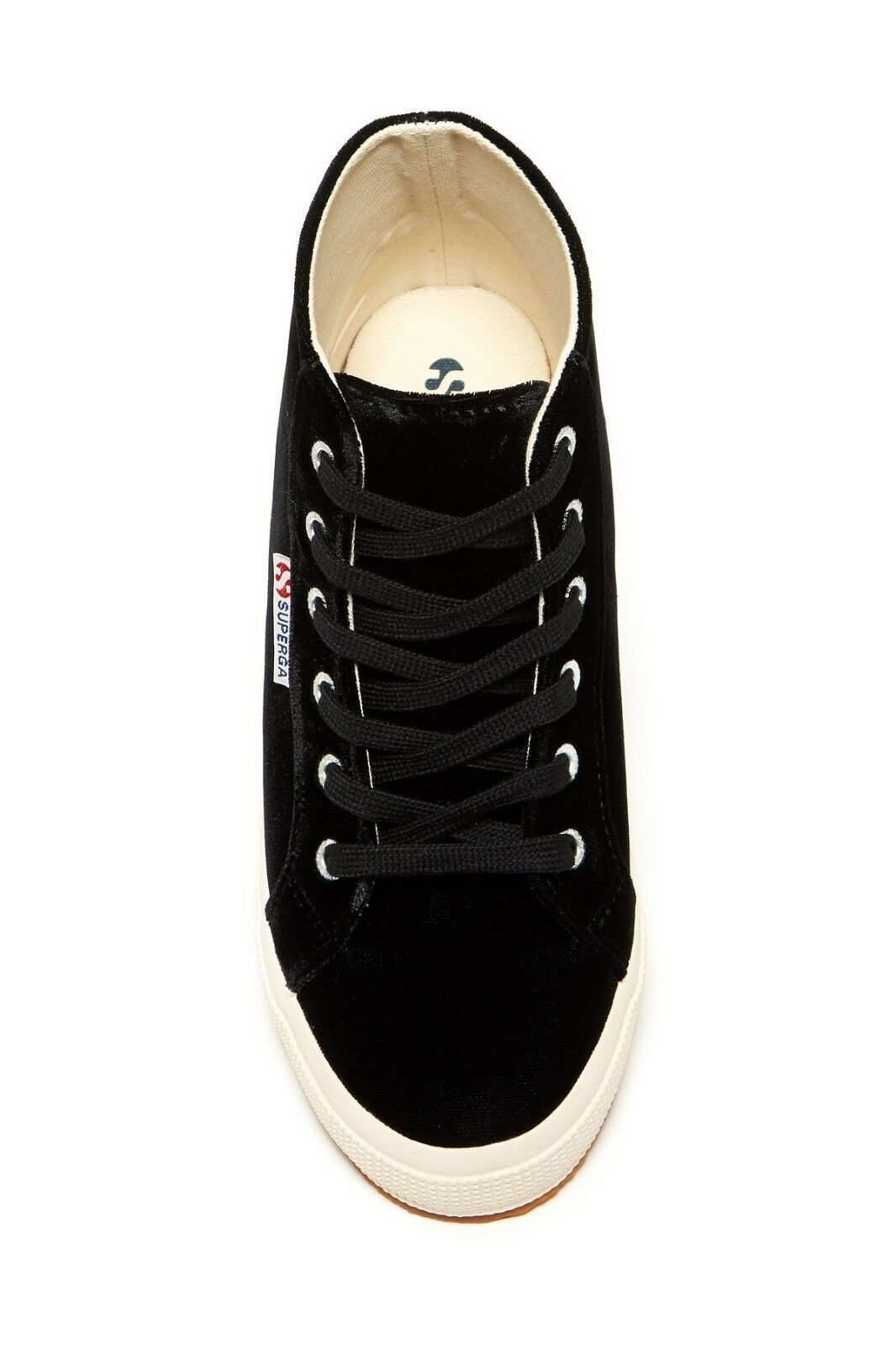 NEW SUPERGA SZ 7 HI  BLACK VELVET  HI 7 TOP SNEAKERS 221448