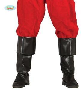 Copristivali Uomo in Eco Pelle Nera 52 cm Accessori Carnevale Halloween