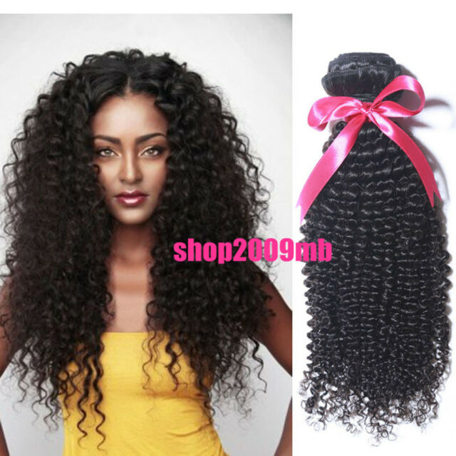 1Bundle Hair Product Weft 100% Virgin Malaysian Curly Wave Human Hair Extensions