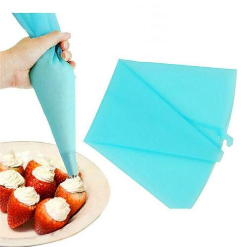 Silicone Reusable Cream Pastry Bag Icing Piping Cake Decorating Bakery Tools S