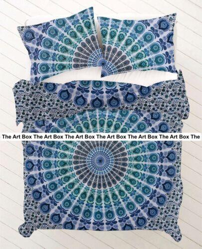 Indian Mandala Handmad Ethnic Reversible Cotton Bohemian Throw Doona Duvet Cover