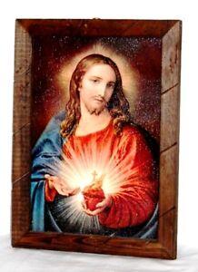 "Painting//Print Last Supper La Ultima Cena Mexico wood frame glassed 36/""x24/"" Huge"