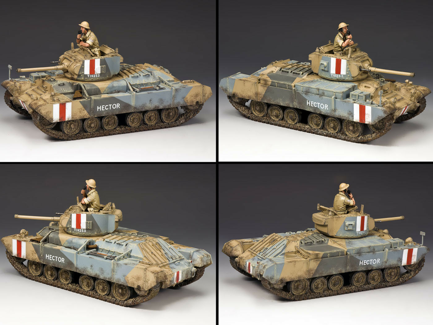 King & Country Octavo Ejército EA078 Valentine Mk III Tanque Set MIB