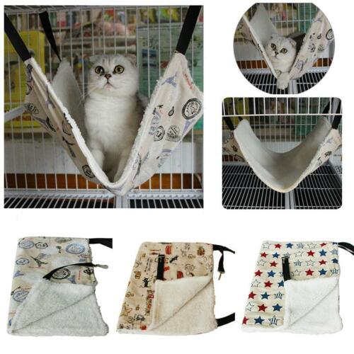 Cat Hammock Collection Leopard Print Bed Animal Hanging Kitten Cage Kitty Lounge