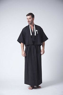 Hot Sale New Style Black Men's Yukata Japanese Haori Kimono