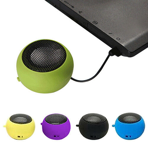 3.5mm Portable USB Rechargeable Speaker For iPod iPhone Laptop Mini Hamburger