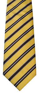 edb2652c32a6 Gold with Purple & Blue Repp-Striped Men's Woven Necktie Hand-Made ...