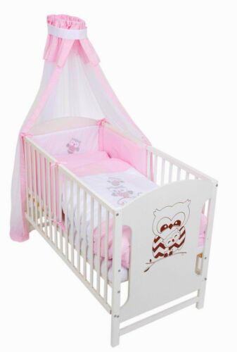 Bébé Lit Lit bébé chouettes 120x60 complètement Lansfield Design ROSA Neuf