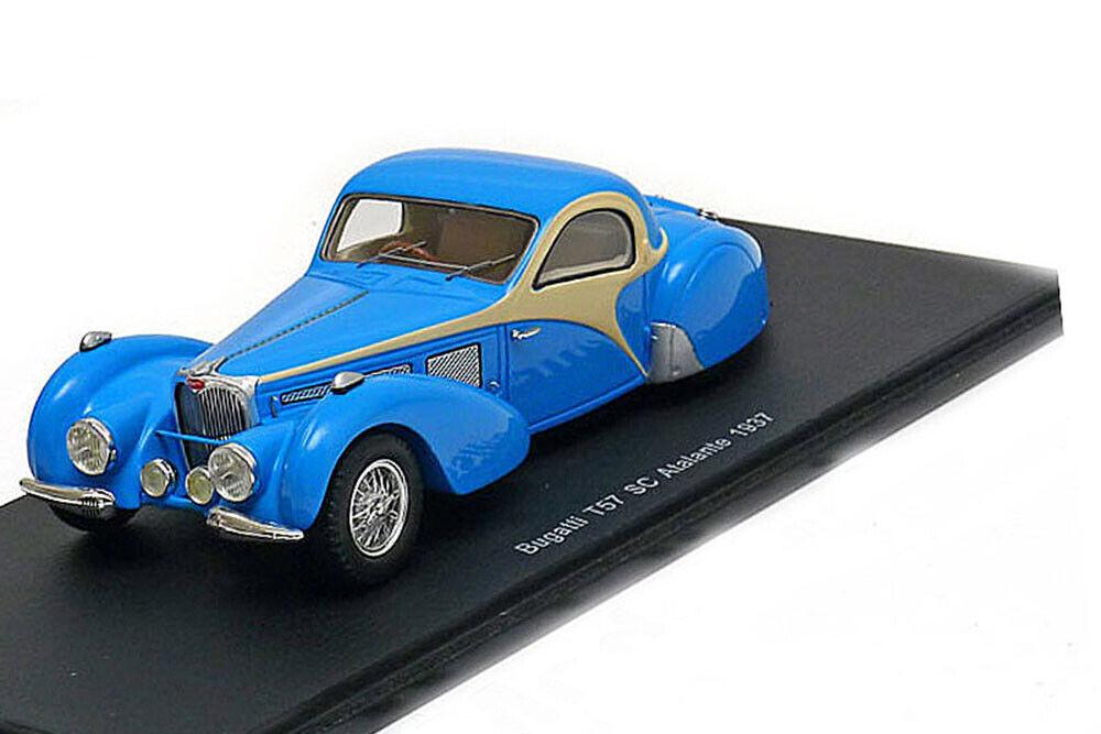 Spark S2723 1 43 BUGATTI T57 SC ATALANTE 1937 bleu