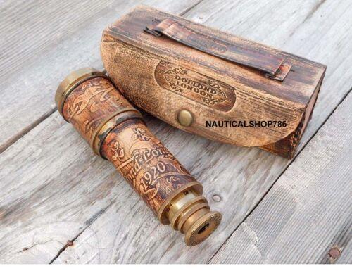 Nautical Handheld Pirate Dollond London Telescope with Box Free