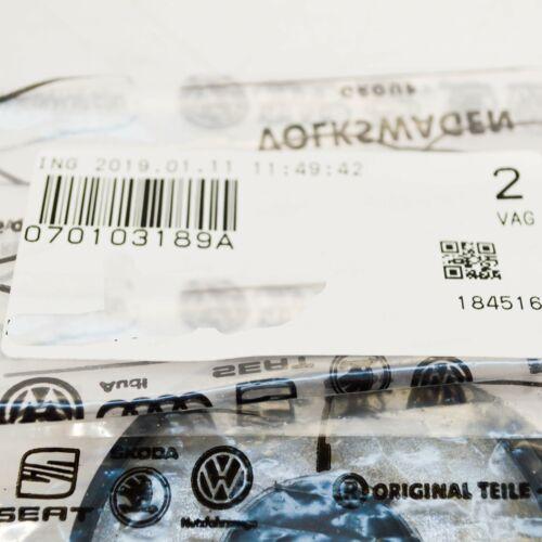 VW Transporter t5 TAPPO OLIO fine COPPIA 2pcs 070103189a NUOVO ORIGINALE