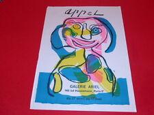 [Coll.R-JEAN MOULIN ART XXe] K. APPEL AFFICHE GAL.ARIEL EO 1969 LITHO ARTE CoBrA